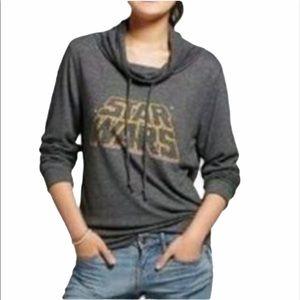 FIFTH SUN Star Wars Long Sleeve Cowl Neck Sweater